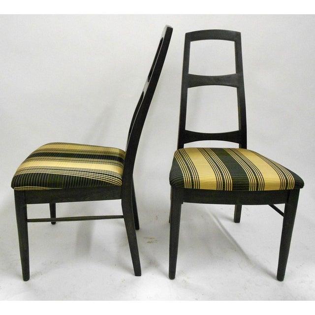 Mid-Century Black Teak Dining Chairs - Set of 6 - Image 4 of 8