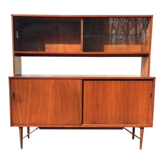 Mid Century Modern Cherry Sideboard Bar by Winchendon Furniture Kipp Stewart and Stewart MacDougall For Sale