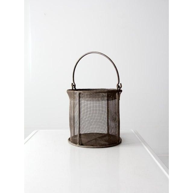 Vintage Wire Mesh Basket - Image 2 of 7
