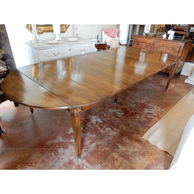 Louis XVI Directoire' Extension Dining Table For Sale - Image 9 of 9