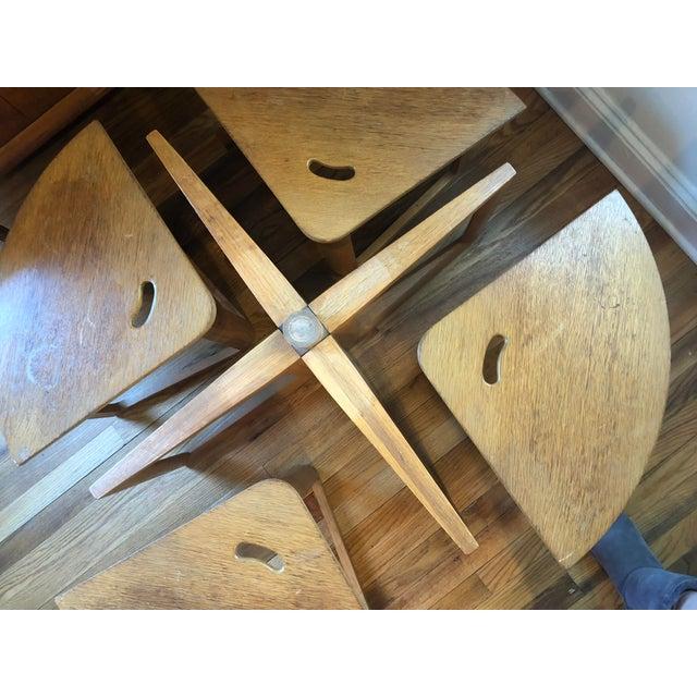 Danish Modern Mid-Century Modern Handmade Oak Coffee Table Chair Set For Sale - Image 3 of 9
