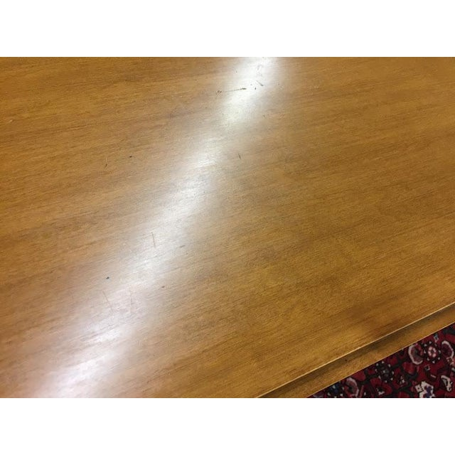 Gold Vintage Traditional Beals Maple Secretary Desk For Sale - Image 8 of 10
