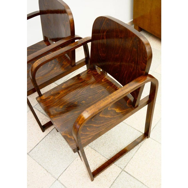 Czech beech & bentwood armchair from Tatra For Sale - Image 6 of 8