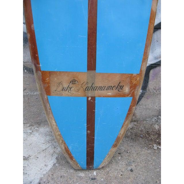 60s 10' Duke Kahanamoku Blue Surfboard - Image 5 of 5