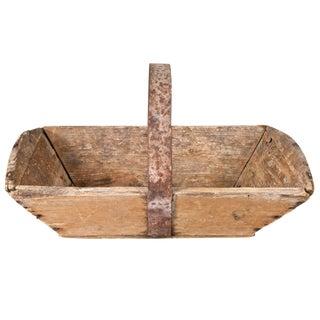 Vintage French Wooden Trug Basket