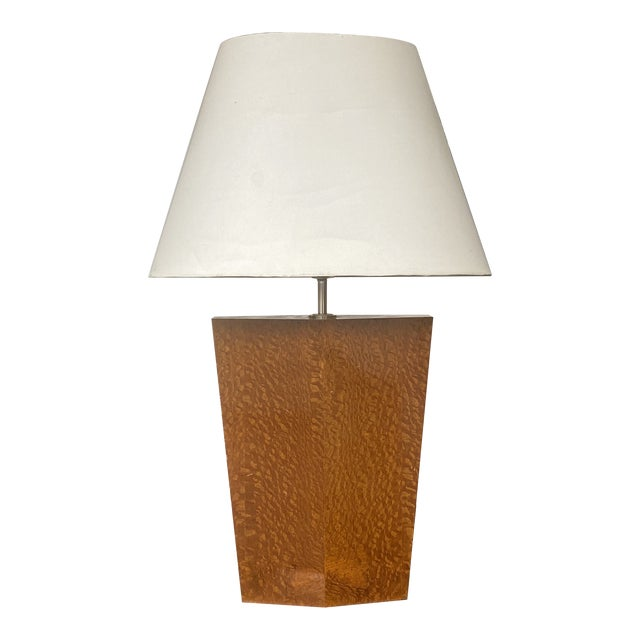 H R S Design Inc Custom Polished Burl Wood Table Lamp For Sale