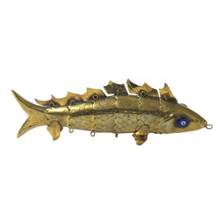 Mid-Century Modern Maltese Articulated Fish Sculpture For Sale