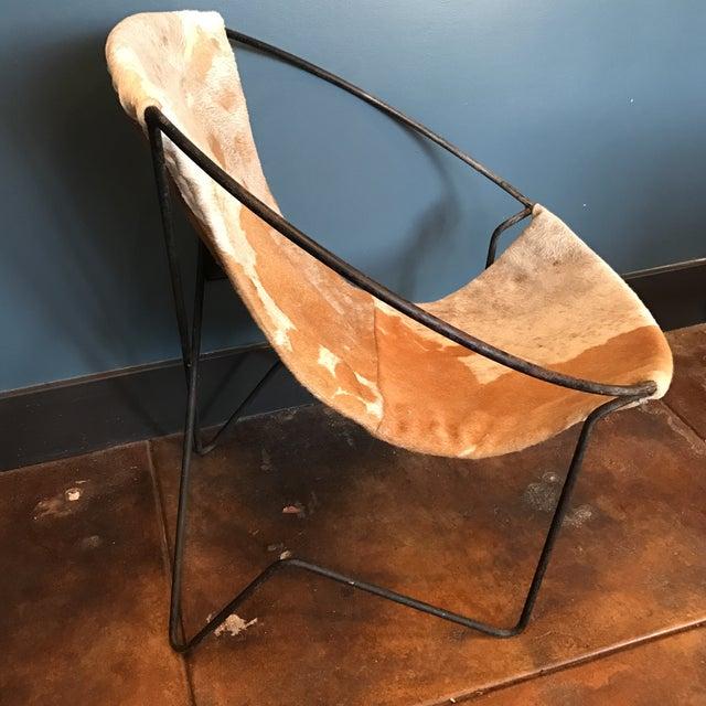 Mid-Century Cowhide Sling Hoop Chairs - Image 9 of 10