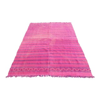Modern Decorative Pink Color Kilim - 6' 5'' x 5'