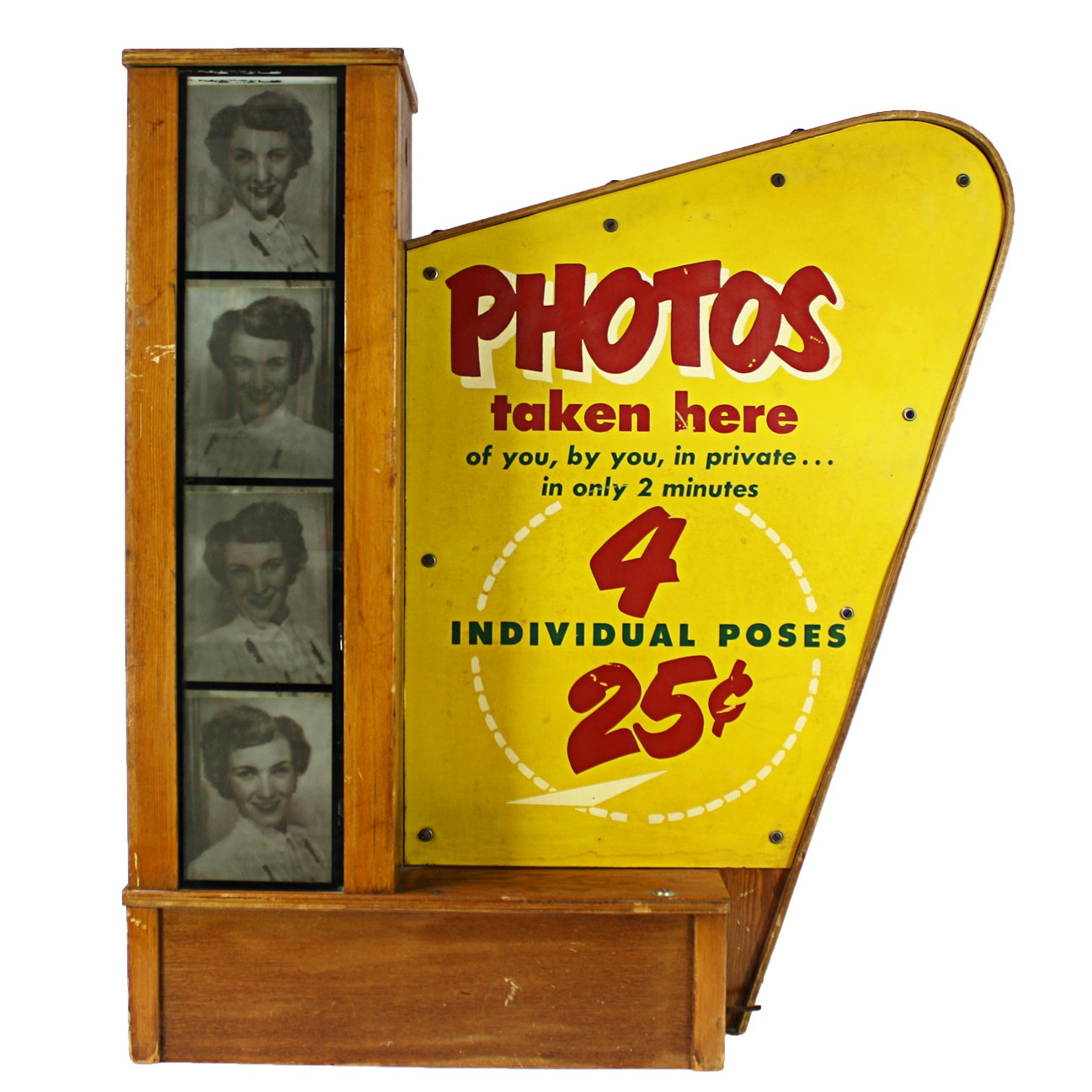 Vintage Lighted Photo Booth Sign   Chairish