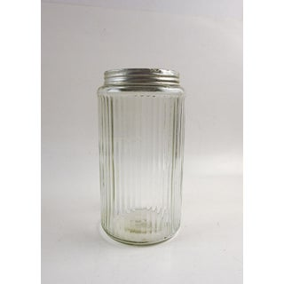 Ribbed Glass Coffee Canister Preview