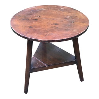 Antique Rustic Cricket Table For Sale