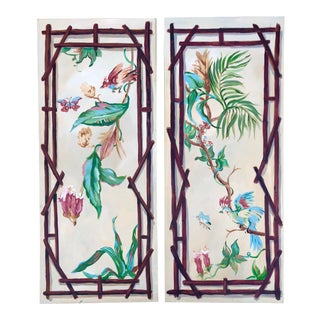 Original Chinoiserie Style Paintings-A Pair