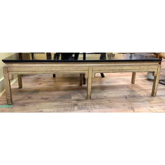Mid Century Asian Style Bench, Coffee Table For Sale - Image 4 of 6