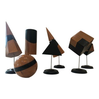 Modern Geometric Decorative Objects - Set of 7 For Sale