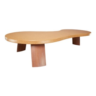 "Scandinavian ""Bigfoot"" Cork and Mahogany Coffee Table For Sale"