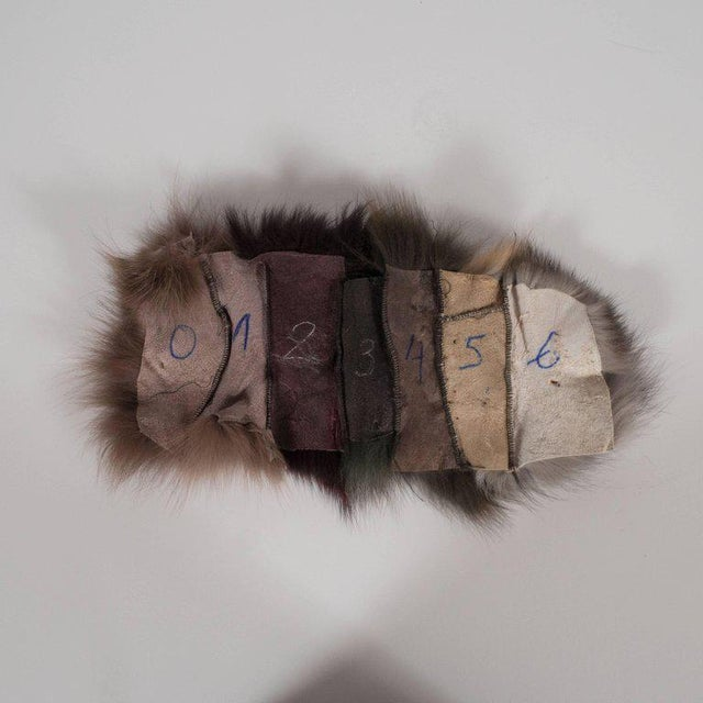 Luxurious Custom New Handmade Fox Fur Pillows in a Stunning Onyx Shade For Sale - Image 9 of 10