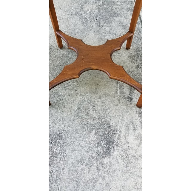 Brown Antique Serpentine Side Table For Sale - Image 8 of 12
