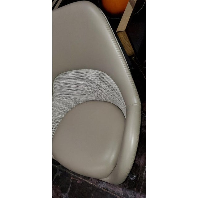 Coalesse for Steelcase Gray Leather Upholstery Lounge Chairs- A Pair For Sale - Image 10 of 13