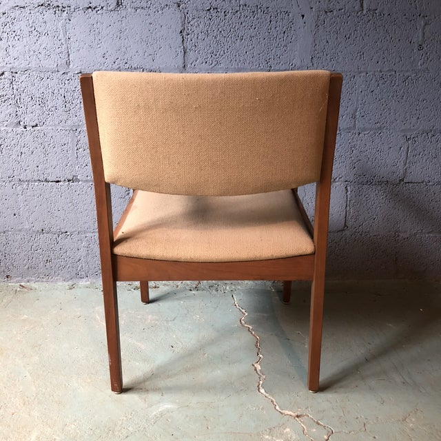 Mid Century Modern Walnut Dining Armchairs- Set of 6 For Sale - Image 4 of 13