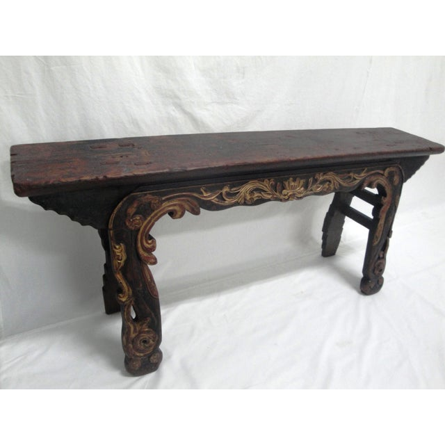 19th Century Painted Bench For Sale In Charleston - Image 6 of 6