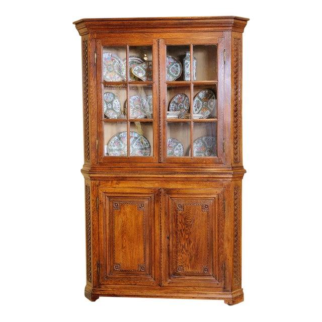 Antique Oak Corner cabinet For Sale - Luxury Antique Oak Corner Cabinet DECASO