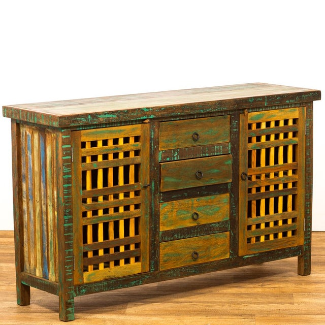 Save the Planet Handmade Reclaimed Solid Wood Buffet Sideboard For Sale In Los Angeles - Image 6 of 7