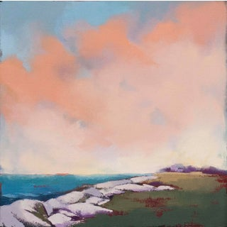 "Abstract Landscape Oil Painting by Carrie Megan, ""A Rockport Day #2"" For Sale"