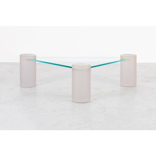 Glass Glass Sculptural Coffee Table Attributed to Lion in Frost For Sale - Image 7 of 7