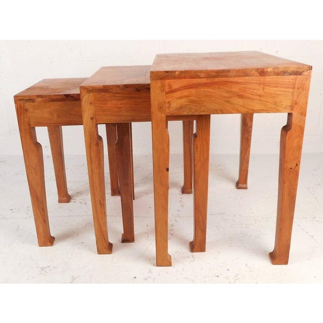 Sculptural Mid-Century Modern Nesting Tables - Set of 3 - Image 2 of 6