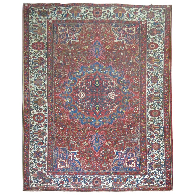 Antique Persian Bakhtiari Rug - 12'3'' X 18'2'' - Image 1 of 9