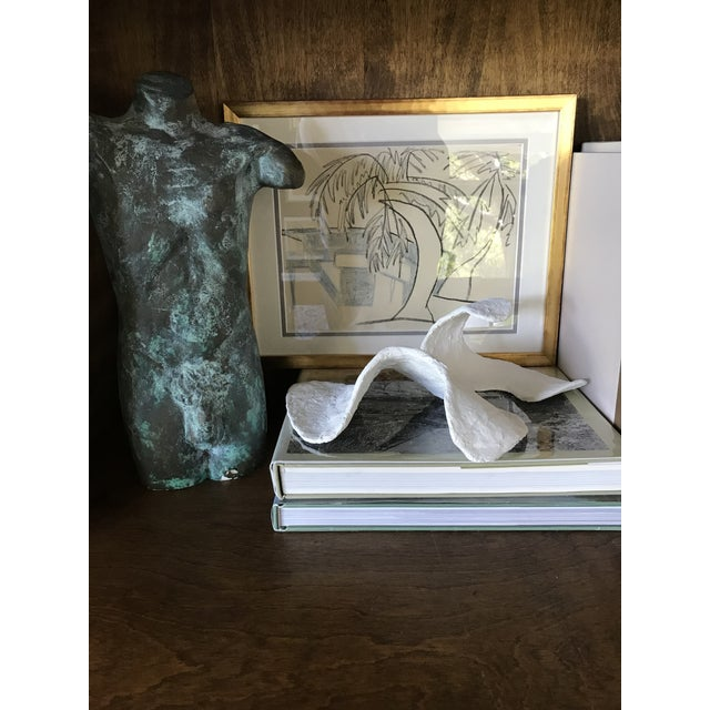 Contemporary Organic Modern Plaster Sculpture For Sale - Image 3 of 7