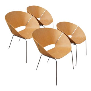 Wolfgang C.R. Mezger Lipse Chairs - Set of 4 For Sale