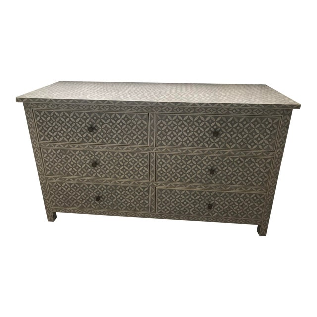 Vintage Restoration Hardware Rh Salma Mosaic Dresser For Sale