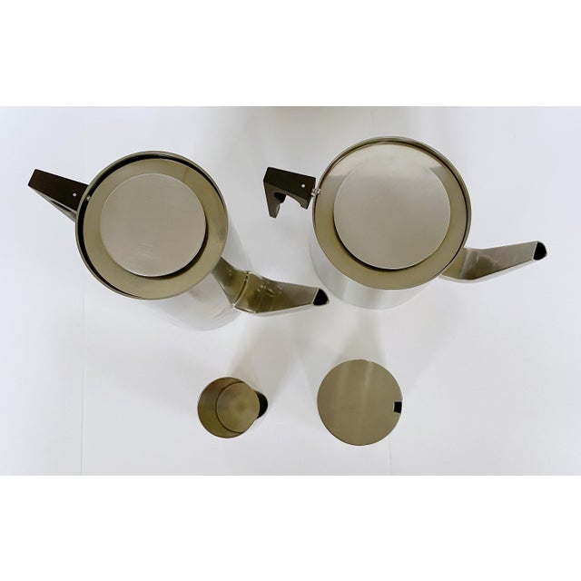 Mid-Century Modern 1967 Arne Jacobsen Cylinda Line for Stelton of Denmark Coffee and Tea Set - 4 Pieces For Sale - Image 3 of 9