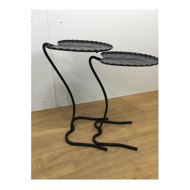 Salterini Lily Pad Nesting Tables - a Pair - Image 3 of 6