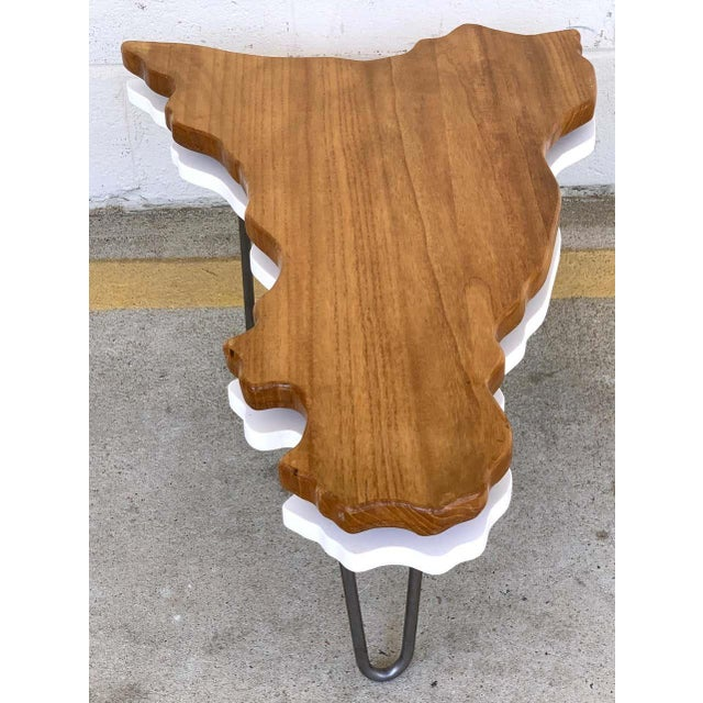 Modern Two-Tier Cloud Drinks/Side Table For Sale - Image 4 of 6