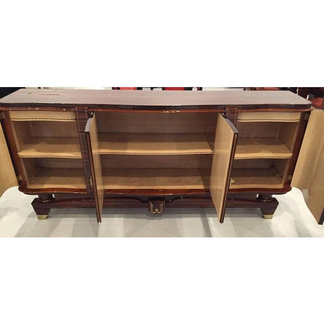 """Circa 1920s French Art Deco Macassar """"Zigzag"""" Buffet For Sale In New York - Image 6 of 6"""