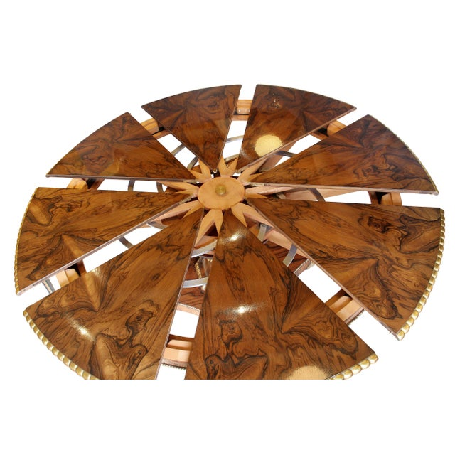 """Regency Style Rosewood And Gilded """"Jupe"""" Capstan Dining Table For Sale - Image 4 of 11"""