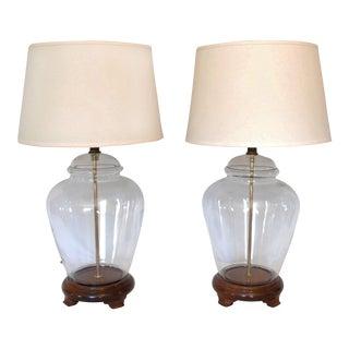 Vintage Transitional Fillable Glass Ginger Jar Lamps