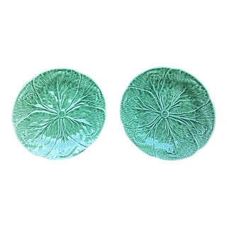 Vintage Cabbage Plates - Set of 2 For Sale