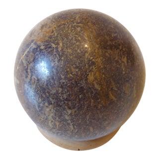 Vintage Italian Brown Marble Orb For Sale