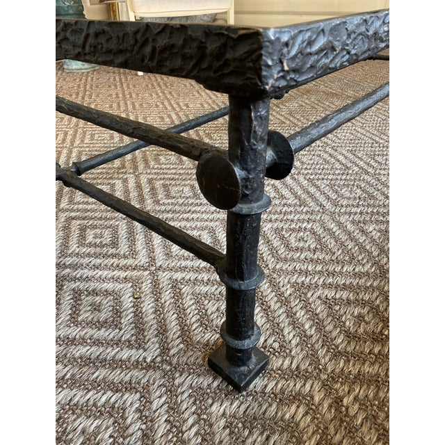 Modern Carole Gratale Bronze Grecian Cocktail Table For Sale - Image 3 of 9