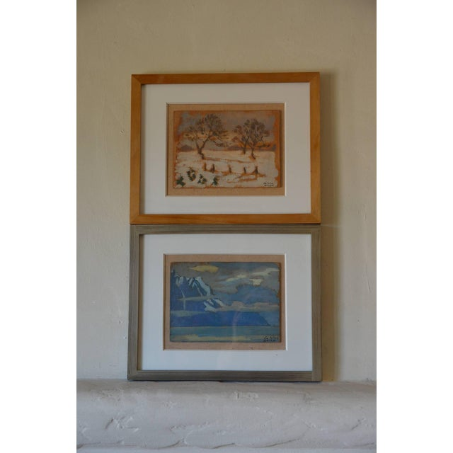 Rare Pair of Framed Oil Paintings by Ivan Da Silva Bruhns For Sale - Image 10 of 10
