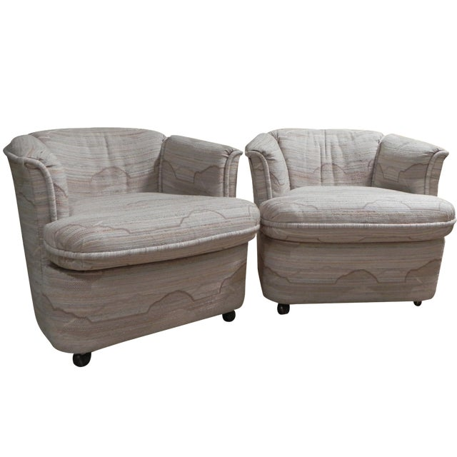 Drexel Contemporary Classics Barrel Chairs - Pair For Sale