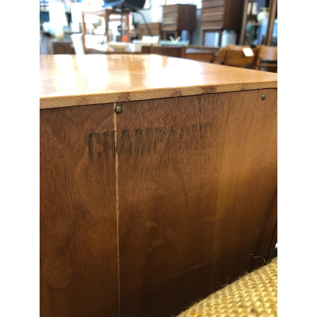 Mid Century Heywood Wakefield Full Size Headboard W/Attached Nightstands For Sale - Image 9 of 12