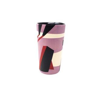 Mid-Century Style Handmade Ceramic Tumbler - Purple For Sale