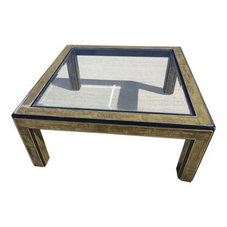 Mid-Century Acid Etched MasterCraft Coffee Table - Parts Only