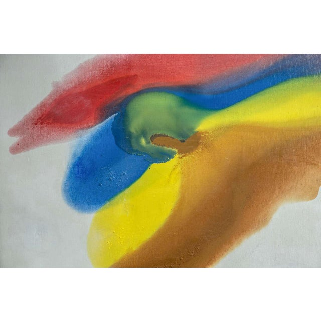 Colorful abstract 1960s painting.