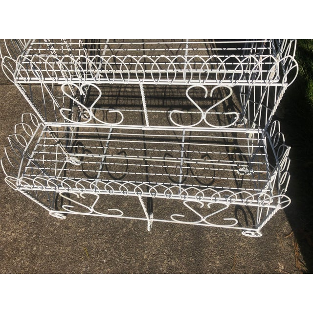 20th Century Cottage Ornate Metal Plant Stand For Sale In Cleveland - Image 6 of 9